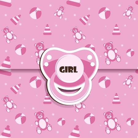Baby shower - Chica Ilustración de vector