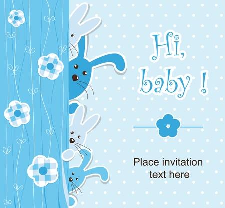 Baby shower - boy Vector Illustratie