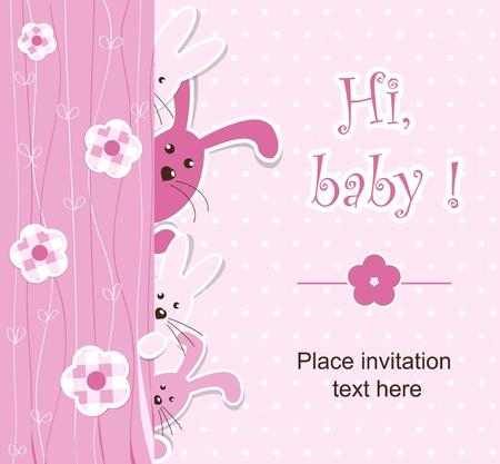 Baby shower - girl Stock Vector - 12486069