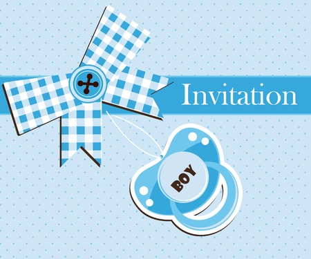 baby boy shower: Baby shower - boy Illustration