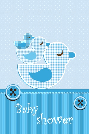 new born baby boy: Baby shower - boy Illustration