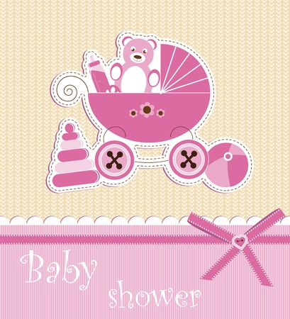Baby shower - girl Stock Vector - 12486111