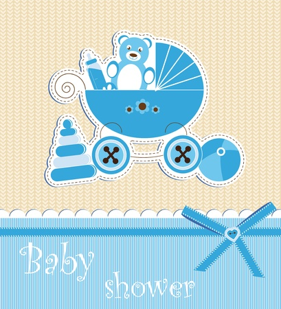 Baby shower - boy Stock Vector - 12486112