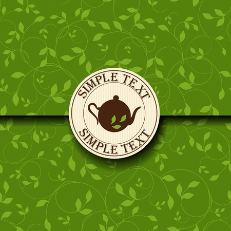 green texture: Tea time template  Illustration