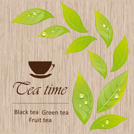 Template of a tea menu Vector