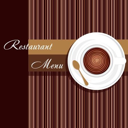 Plantilla de un menú de un restaurante