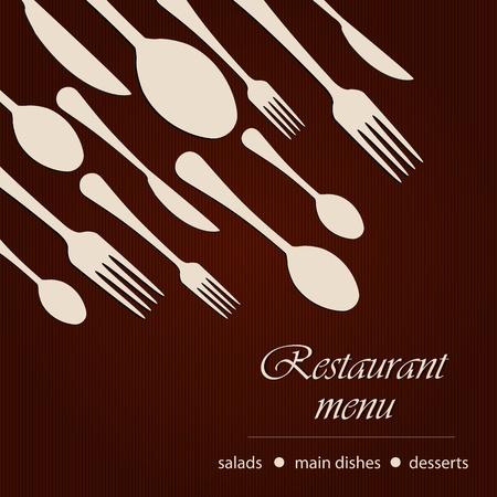 Template of a restaurant menu Vector