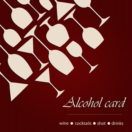 wine card: Template of a alcohol card