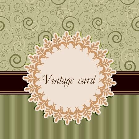 beige stof: Vintage kaart Stock Illustratie