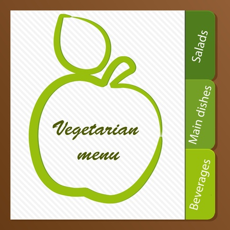 Template of a vegetarian menu Stock Vector - 14023946