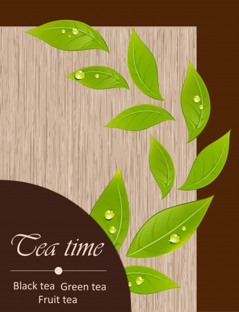 Template of a tea menu