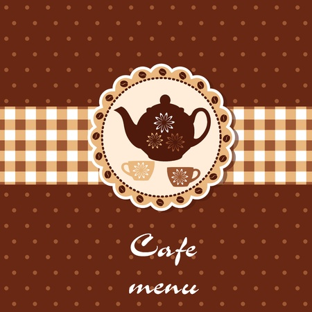 Template of a cafe menu Stock Vector - 14023991