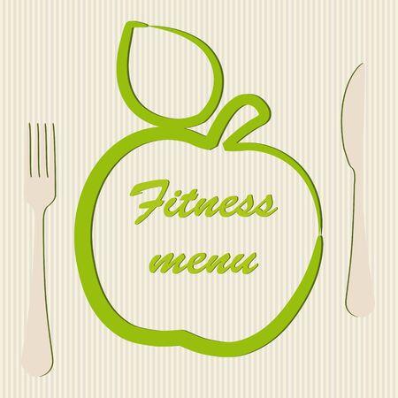 Template of a vegetarian menu Vector