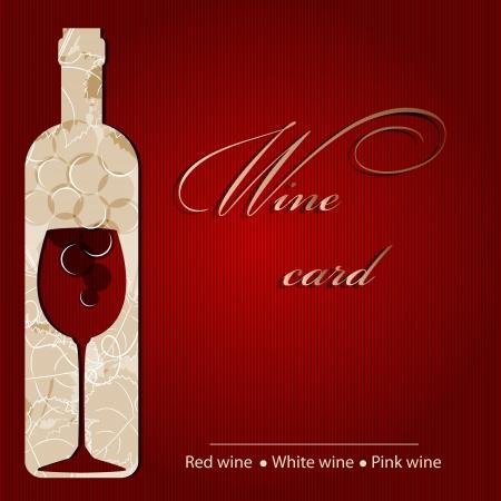 Plantilla de una carta de vinos Ilustración de vector