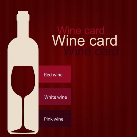wine card: Template of a wine card