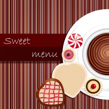 Template of a sweet menu Illustration
