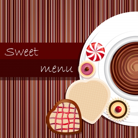 Template of a sweet menu Illustration