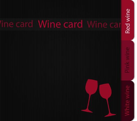Template of a wine card Stock Vector - 14023957