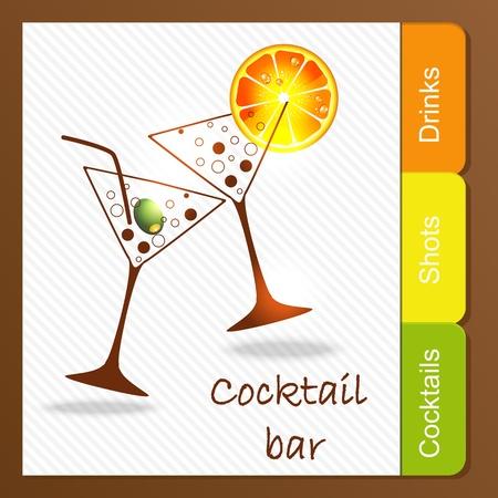 champagne orange: Alcohol bar Illustration