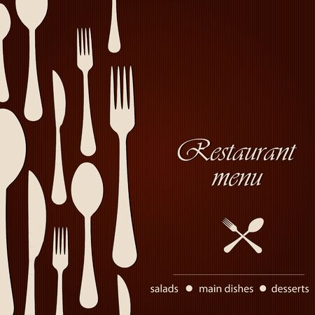 Sjabloon van een restaurant menu Vector Illustratie