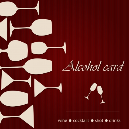 Template of a alcohol card