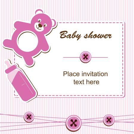 beanbag: Baby shower - girl Illustration