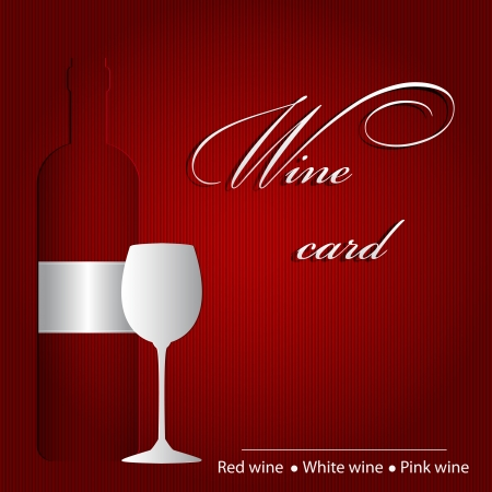 Template of a wine card Stock Vector - 14024035