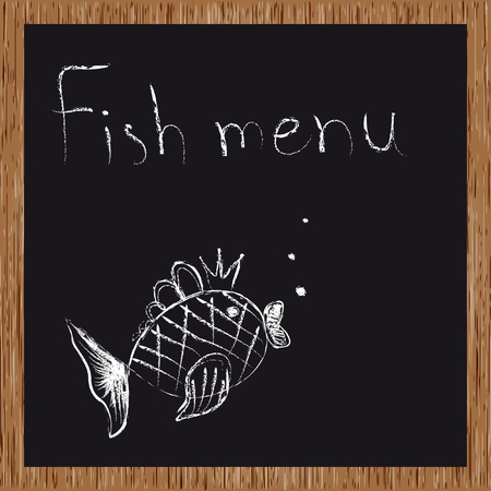 gourmet meal: Template of a fish restaurant