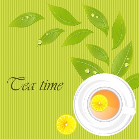Tea time template Vector