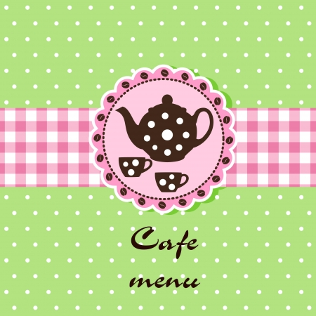 Template of a cafe menu Stock Vector - 14023968