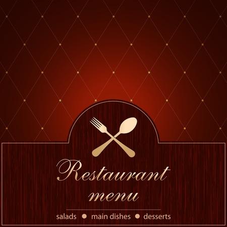 maroon: Template of a Restaurant Menu