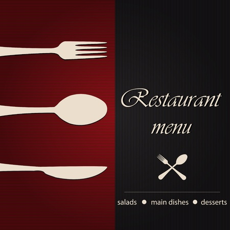 meny: Mall av en restaurang meny