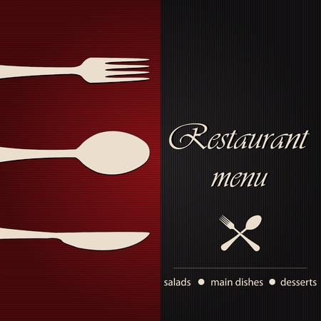 menu restaurant: Mod�le d'un menu de restaurant