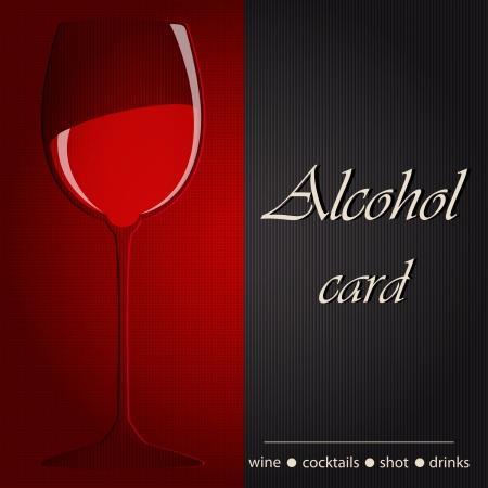 Template of an alcohol menu