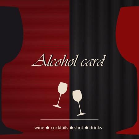 Template of an alcohol menu Stock Vector - 14023992