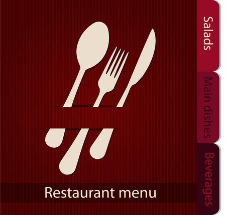 Plantilla del menú de un restaurante