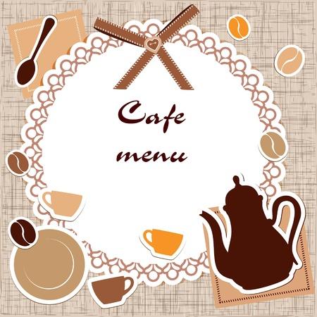 caffeine: Template of a cafe menu