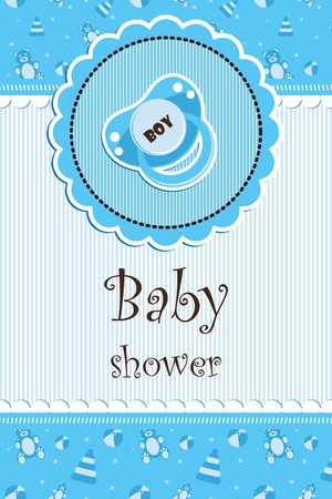 pacifiers: Baby shower - boy Illustration