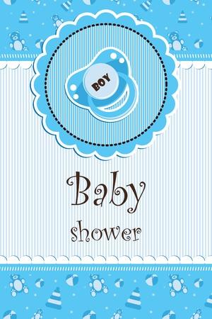 Baby shower - boy Stock Vector - 14024065