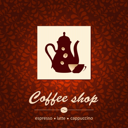 restaurant sign: Template of coffee shop