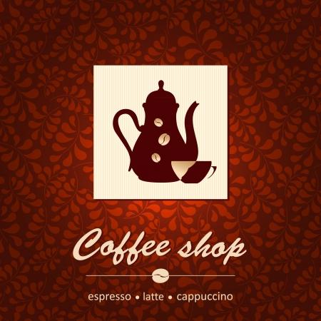 coffee pot: Template of coffee shop