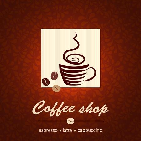 coffee beans: Sjabloon van de coffeeshop