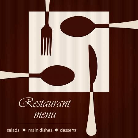 Template of a restaurant menu Illustration