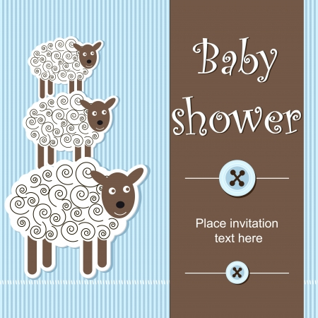 baby shower - boy Stock Vector - 14023998