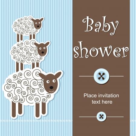 baby shower - boy Stock Vector - 14023998