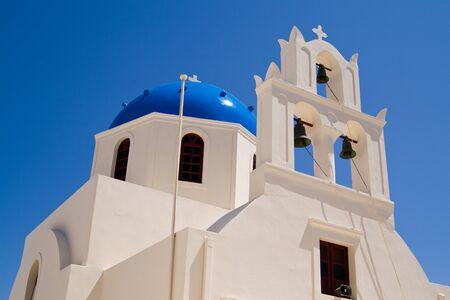 fira: Church in Oia Santorini, Greece