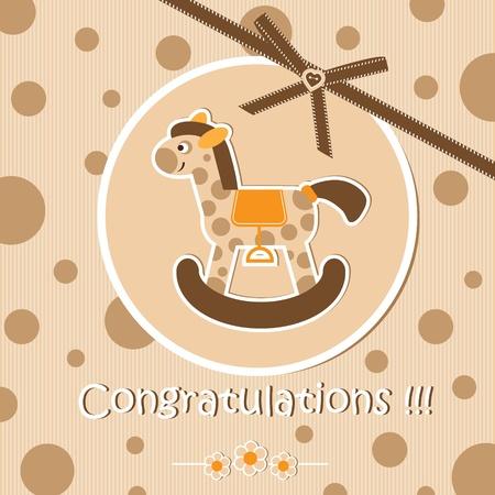 new born baby girl: Baby shower card