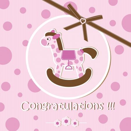 Baby shower - girl Stock Vector - 15309166