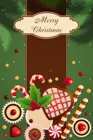 holiday cookies: Tarjeta de Navidad