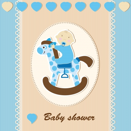 new born: Baby shower - boy Illustration